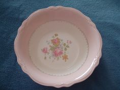 RARE Vintage 1950 Homer Laughlin Virginia Rose Serving Bowl Dish Pink 8 5 8"