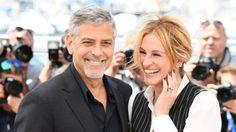 George Clooney & Julia Roberts durante la promozione di Money Monster avvenuta alFestival di Cannes del 2016.