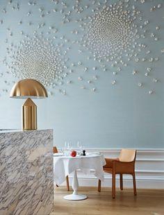 decoracion restaurante moderno azul pastel