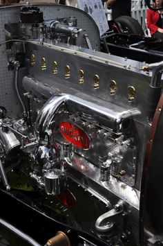 This is a Bugatti 16 cylinder Engine.