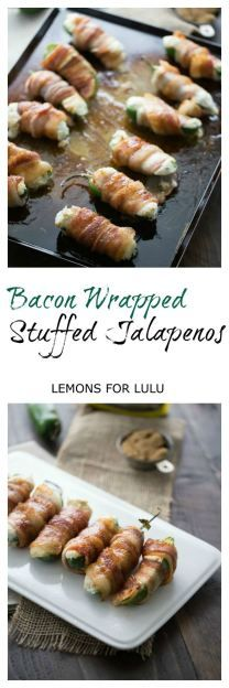Blue cheese and cream cheese melt together perfectly in these stuffed jalapenos.  Sweet, smokey bacon wraps around each pepper for the ultimate finger food!