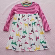Girls Joules Jersey Horse Dress age 2-3 years (98cm)