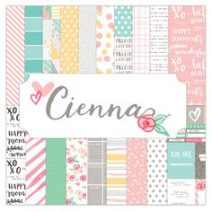 Elle's Studio - Cienna Collection - 12 x 12 Collection Pack Paper Craft Supplies, Scrapbook Supplies, Scrapbook Paper, Elle Studio, Happy Moments, Packing, Stickers, Crafts, Collection