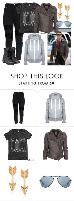 """Clint Barton / Hawkeye"" by blackest-raven ❤ liked on Polyvore featuring MuuBaa, Journee Collection, Ray-Ban and PLDM by Palladium"