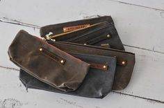 Peg and Awl Waxed Canvas Pouch ($39) from blueskypapers.com