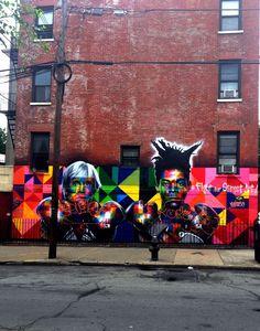 Beautiful street art piece in Brooklyn