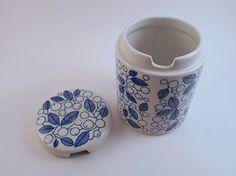 Arabia Finland Covered Jam Jar Design by Kaj by MostlyMidModern