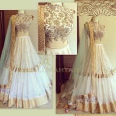 Beautiful Indian Wedding Lehenga ensemble with heavy gold embroidery. Pakistani Dresses, Indian Dresses, Indian Outfits, Lehenga Designs, Indian Attire, Indian Ethnic Wear, Desi Clothes, Indian Clothes, Indian Couture