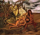 Two Nudes In A Forest 1939 - Frida Kahlo - www.frida-kahlo-foundation.org