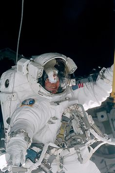 Longest Spacewalk March 11, 2001 - NASA astronauts Susan J. Helms and James S. Voss spent the longest time outside the confines of a spacecraft during the STS-102 mission of the shuttle Discovery. During their eight hours and 56 minutes out in space, Helms and Voss worked on the exterior of the International Space Station to prepare it for the attachment of the Leonardo cargo canister, which had launched along with the crew on Discovery.