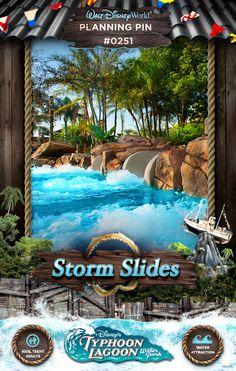 Walt Disney World Planning Pins: Storm Slides