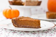 For Thanksgiving -Vegan Pumpkin Pie with Gluten-Free Pecan Crust from Oh She Glows