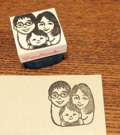 家族はんこ パパママ赤ちゃん ご縁をつなぐ消しゴムはんこ Coasters, Illustration, Coaster, Illustrations