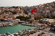 Гледано из брод Сеа Принцесс Кушадаси Лиман Лука Ајдин Покрајине Егеј Турска 2011