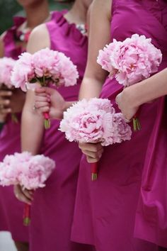 Bridesmaids bouquets... something similar but not this particular pink.