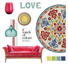 """A Touch of Colour"" by molly2222 ❤ liked on Polyvore featuring interior, interiors, interior design, home, home decor, interior decorating, Pier 1 Imports, Jamie Young and colorfulrugs"
