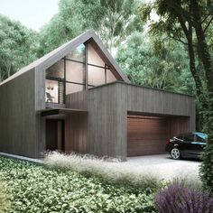 Modern house architecture in the woods : by Majchrzak Pracownia Projektowa Arch House, Design Exterior, Modern Barn, Modern House Design, Future House, Modern Architecture, Building A House, Building Ideas, Villa