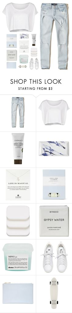"""""""angels be calling"""" by darkdiamonds-1 ❤ liked on Polyvore featuring Hollister Co., American Apparel, Prouna, Dogeared, Laura Ashley, COVERGIRL, Byredo, Davines and Whistles"""