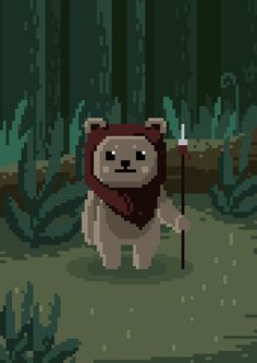 Ewok by Karina Dehtyar, via Behance