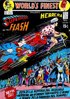 El artista paisa que Ilustra la carrera del siglo: Superman Vs. Flash Vs. Lucho Herrera