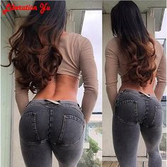 27.68$  Watch more here - http://ai0sd.worlditems.win/all/product.php?id=32799992897 - 2017 fashion Push Up Hip Leggings Mid Waist Women Polyster Pants Bodybuilding Legging Spandex Solid Jeans Standard 8-006