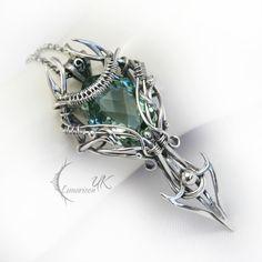 NINTURIEEL - silver and green amethyst by LUNARIEEN.deviantart.com on @deviantART