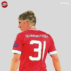 Bastian Schweinsteiger. deutscher Fußballmeister. #evilreds #mufc #bastian #schweinsteiger #legend #german