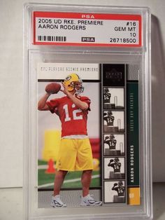 2005 Upper Deck Aaron Rodgers Rookie PSA Gem Mint 10 Football Card #16 NFL #GreenBayPackers