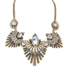 European And American Style Retro Exaggerated Ethnic Bib Necklace[US$6.39]shop at www.favorwe.com