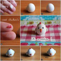 polymer clay chicken ^^