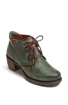 Free shipping and returns on PIKOLINOS 'Le Mans' Stack Heel Bootie at Nordstrom.com. A versatile bootie with a lug sole is crafted from buffed, semi-vegetable-tanned leather for workwear-inspired style. Gel and foam padding at the collar and footbed keep you comfortable, while the Scotchgard™ waterproof stain protector keeps you looking snazzy.