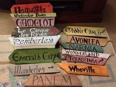 Fantasy Fiction Literary Sign direction signs by Forthehalibut, $60.00