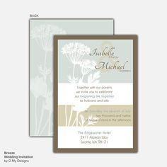 Breeze Printable Wedding Invitation DIY Customized by omydesigns, $16.00