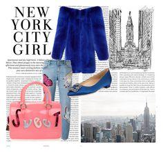 Designer Clothes, Shoes & Bags for Women City Girl, Furla, Manolo Blahnik, New York City, Alexander Mcqueen, Yves Saint Laurent, Blazer, Shoe Bag, Polyvore