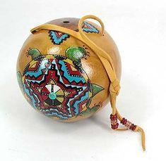 Cynthia Whitehawk - Apache Mother Earth Turtle Spirit Ceremonial Rattle