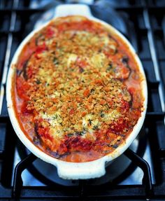 Jamie Oliver's Aubergine Parmesan.