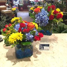 Summer colored party flowers! #mmflowers