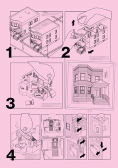 House Kit (Step-by-Step) Architecture Graphics, Architecture Drawings, Portfolio Review, Portfolio Design, Smout Allen, Axonometric Drawing, Bartlett School Of Architecture, Jpg, Kit Homes