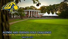 First Annual Athletics Alumni and Friends Golf Challenge - April 28! Support Pace Athletics! http://bit.ly/1ghNzID