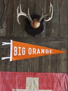 Must Have: Big Orange Pennant by The Old Try #southern #bigorangecountry #govols