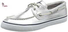 Sperry Top-Sider Bahama, Baskets Basses Femme, Argent (Silver), 39.5 EU - Chaussures sperry top sider (*Partner-Link)