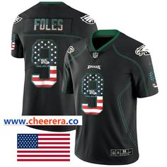 quality design bf0f5 0caca Nike Philadelphia Eagles  9 Nick Foles Black Men s Stitched NFL Limited  Rush USA Flag Jersey