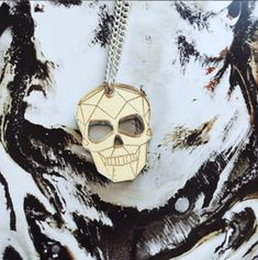 Akira Amani gold skull necklace. Rebel. Gold Skull, Skull Necklace, Freelance Designer, Akira, Handcrafted Jewelry, Jewelry Crafts, Rebel, Jewellery, Creative
