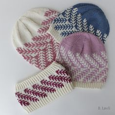 Ravelry: Spire Lue og Pannebånd pattern by StrikkeBea Knit Mittens, Knitted Hats, Ravelry, Headband Pattern, Drops Design, Knitting Stitches, Hue, Knit Crochet, Winter Hats