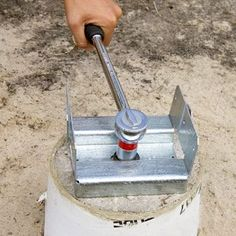 concrete deck footers j zbracket - Google Search