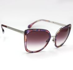 c2e5942a20d Chanel 4209 Butterfly Sunglasses with Pink Flower Frame and Rose Lenses