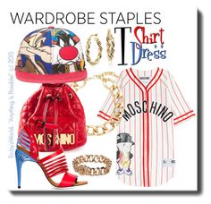 """""""Wardrobe Staple: T-Shirt Dress Contest"""" by enjoyzworld ❤ liked on Polyvore featuring Moschino, Fallon, Fendi, Marc by Marc Jacobs and Blue Nile"""