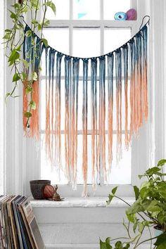 Plantes rideaux crochet fenêtre de macramé hippie romantique