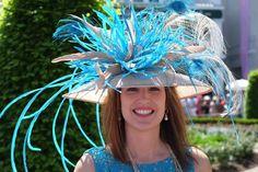 Blue derby hat
