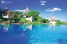 Exterior and pool of Lake Manyara Serena Safari Lodge in Lake Manyara National Park, Tanzania. #travel #Africa #Safari